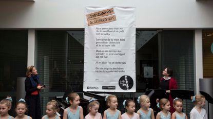 Groot gedicht van Maud Vanhauwaert onthuld op Dag van de Academies