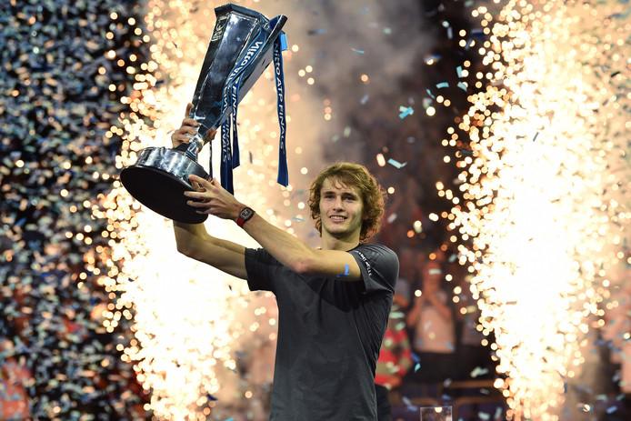 Alexander Zverev won vorig jaar de ATP Finals.