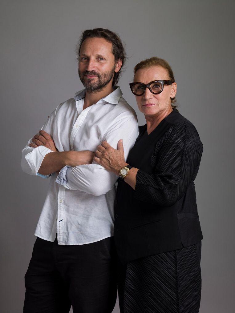 Ria Daniels en zoon Alex Beeld Koos Breukel