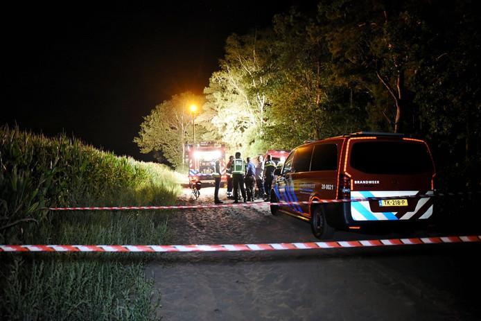 Consternatie afgelopen nacht in Ulicoten waar een busje met drugsafval werd gevonden.