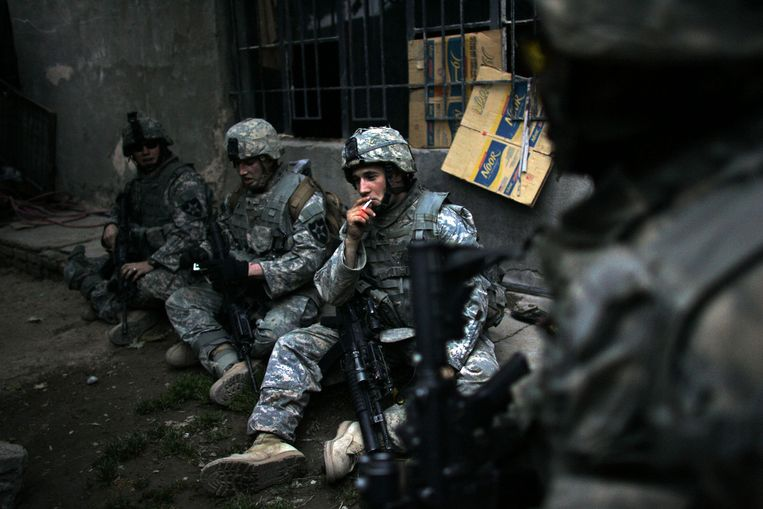 De Verenigde Staten zijn sinds 2003 op grote schaal militair actief in Irak, aanvankelijk om dictator Saddam Hoessein omver te werpen. Beeld AFP