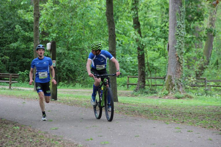 Ook de bike & run is een succes.