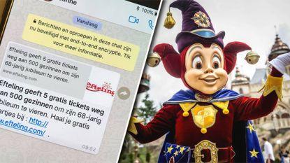 Telefoon Efteling roodgloeiend door oplichting met 'gratis tickets'