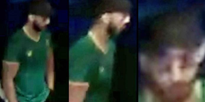Au moment des faits, le suspect était vêtu d'un pantalon foncé, d'un T-shirt vert et d'une casquette.