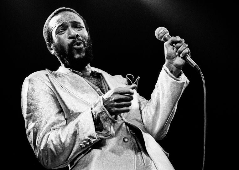 Marvin Gaye tijdens een optreden in Rotterdam in 1980.