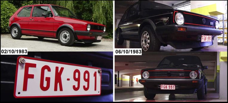 De rode (en later zwart gespoten) VW Golf GTI met nummerplaat FGK-991.