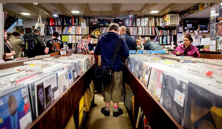 Op Record Store Day kan iedere platenliefhebber los. Beeld anp