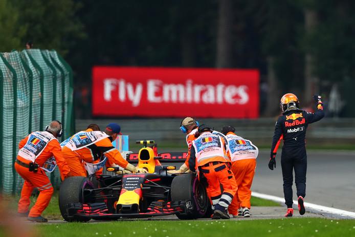 Op Spa-Francorchamps moest Verstappen opgeven met motorproblemen