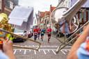 Het parcours leidde de deelnemers van de Marathon Amersfort onder meer door het stadscentrum.