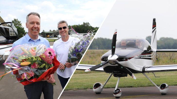 Zelfgebouwd vliegtuig van Oldenzaler maakt eerste vlucht