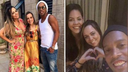 """Ronaldinho gaat deze zomer met twee vrouwen tegelijk trouwen nadat ze sinds december """"harmonieus"""" samenleven"""