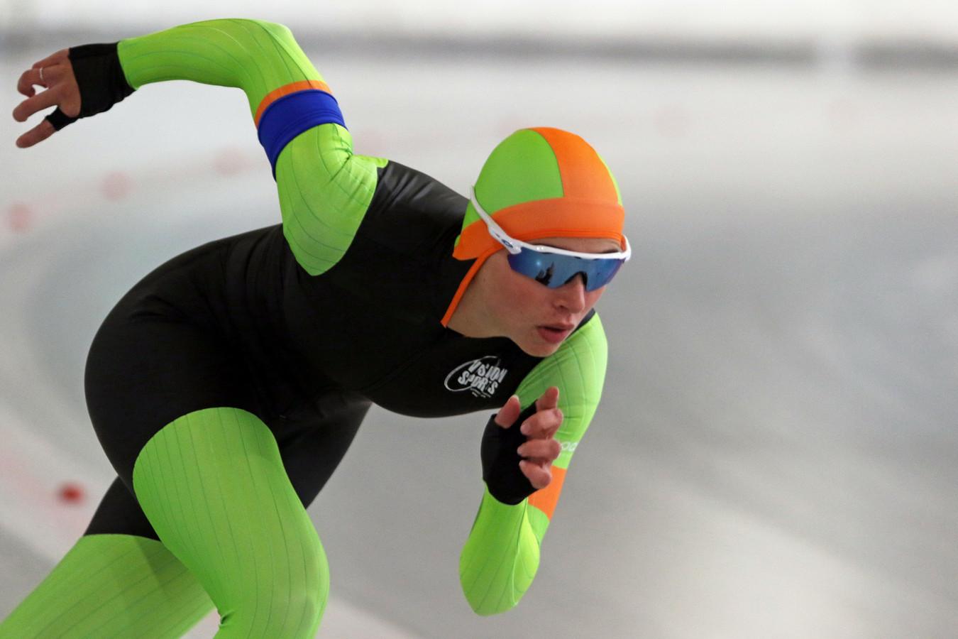 Amée Hollanders (17) in actie. Ze is één van de jonge talenten die via een site sponsors zoekt.