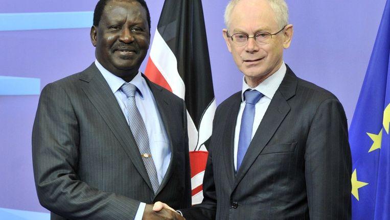 Raila Odinga en Herman Van Rompuy.