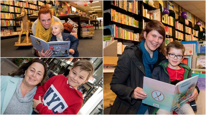 Met de klok mee: Marjolein Heuvel met haar zoon Mees, Marleen van Dijke met haar zoon Dexter en Mirjam Burgers met haar zoon Matthias.