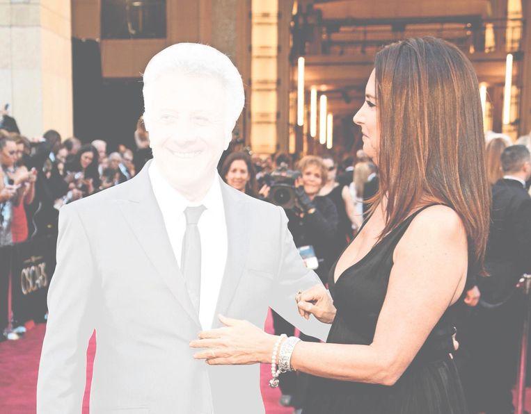 Dustin en Lisa Hoffman bij de Oscaruitreiking 2013. Beeld Jeff Vespa