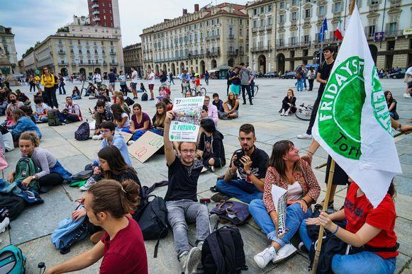 In Italië hiel men een zitstaking.