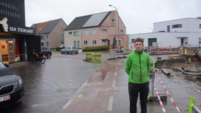"""Meest onfortuinlijke bakker van Vlaanderen? Kris heeft twee filialen en voor beide deuren wordt gewerkt: """"Hopelijk halen we het einde van de werken"""""""