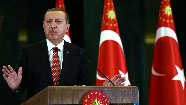 De Turkse president Tayyip Erdogan. Beeld ap