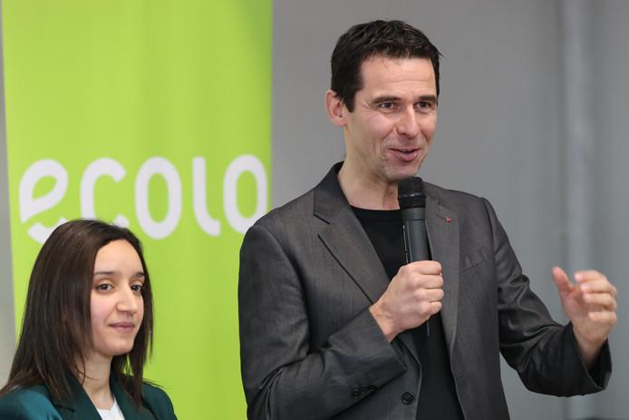 Rajae Maouane et Jean-Marc Nollet, co-présidents d'Ecolo