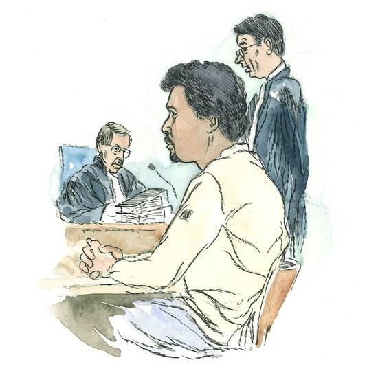 Julien C. tijdens een rechtszitting in 2007.