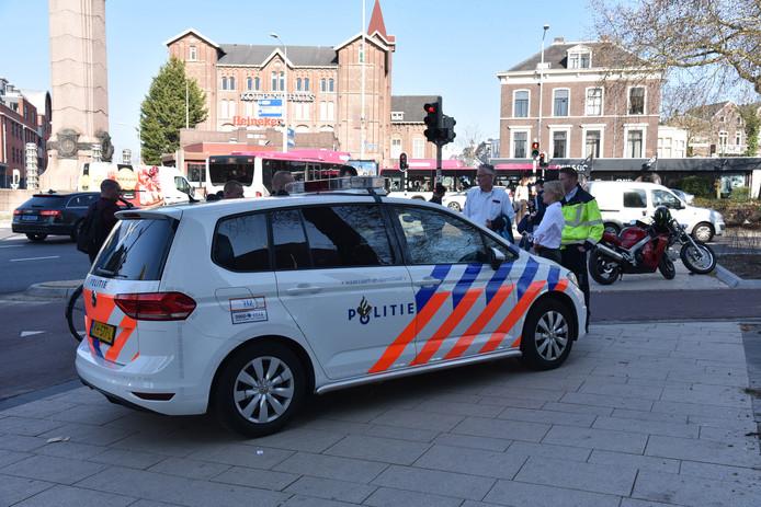 De motorrijder raakte zwaargewond bij het ongeluk op het Quackplein in Nijmegen.