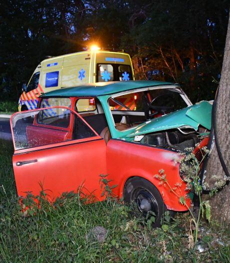 Auto botst tegen boom in Daarle