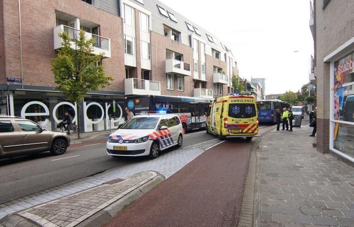 Door de uitwijkmanoeuvre raakte de scooterrijder gewond