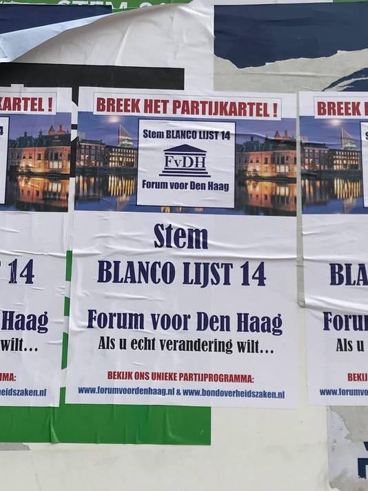 De poster van 'Blanco Lijst 14'