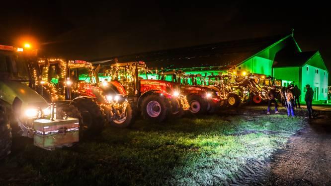 """Landbouwers vragen met lichtstoet aandacht voor hun stiel: """"Velen onder ons staan onder grote druk"""""""