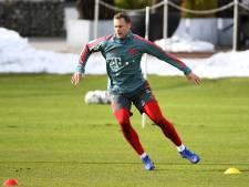 Neuer terug in Bayern-doel, Robben nog altijd in ziekenboeg