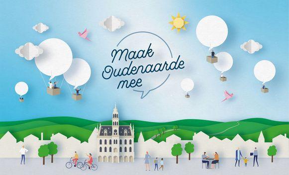 Met dit campagnebeeld nodigt de stad zijn inwoners uit om hun mening te geven.