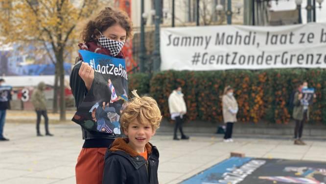 """Gentenaren voeren actie op Kouter om vluchtelingen uit Griekse kampen op te vangen: """"Laat ze binnen"""""""