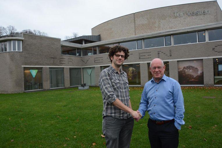 Kristof Van den Broeck (links) gaat op 1 januari aan de slag als nieuwe directeur van CC Ter Vesten.