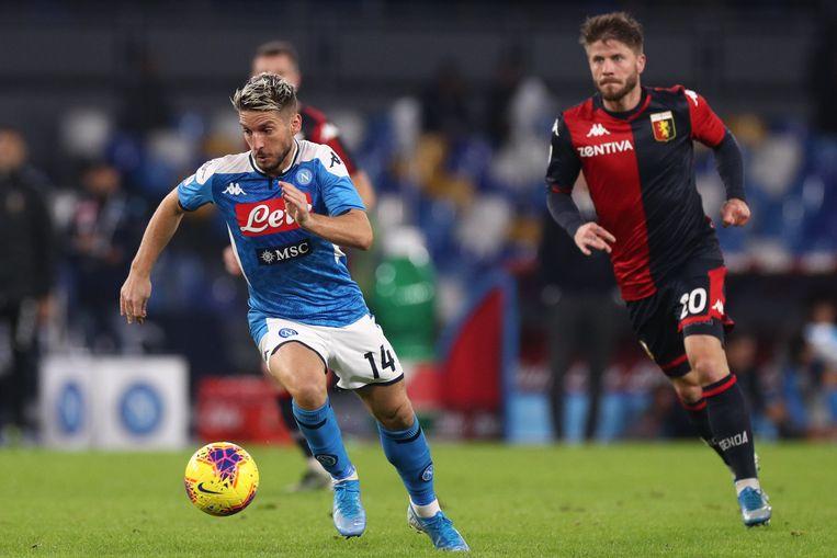 Mertens zaterdagavond in het Napolitaanse San Paolo tegen Genoa (0-0).