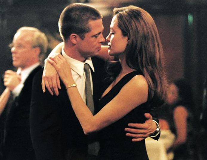 Het stel in Mr. & Mrs. Smith.