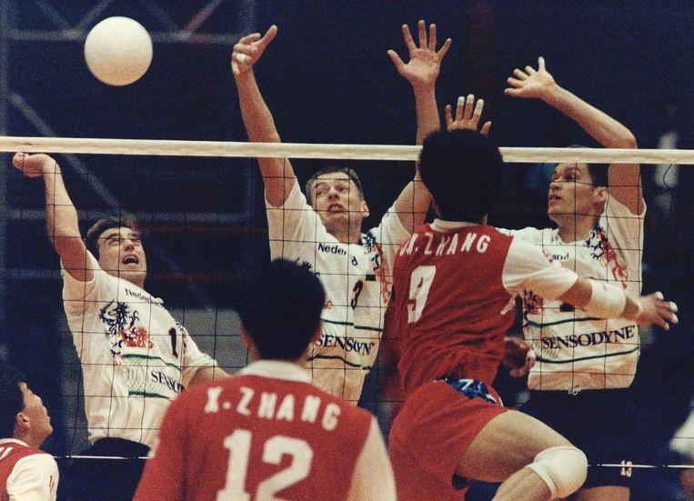 Jeroen Bijl (links) in 1993 in de nationale ploeg. Beeld Hans Steinmeier / ANP
