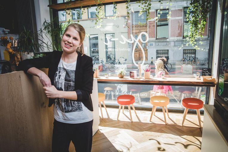 Svante Renneboog in haar zaak voor gezonde voeding.