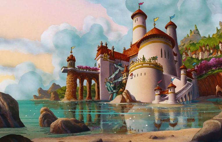 Het kasteel van Prins Eric uit De Kleine Zeemeermin.