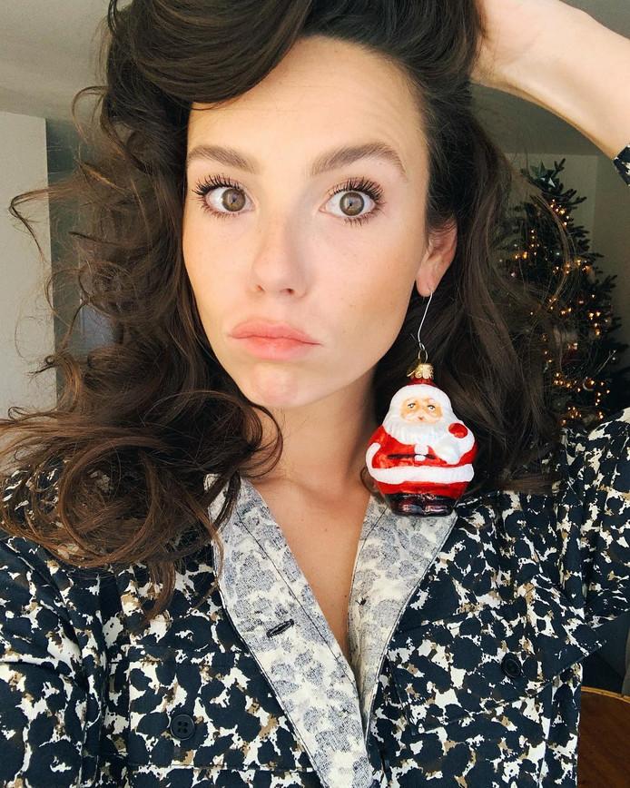 Gwen van Poorten en haar kerstman