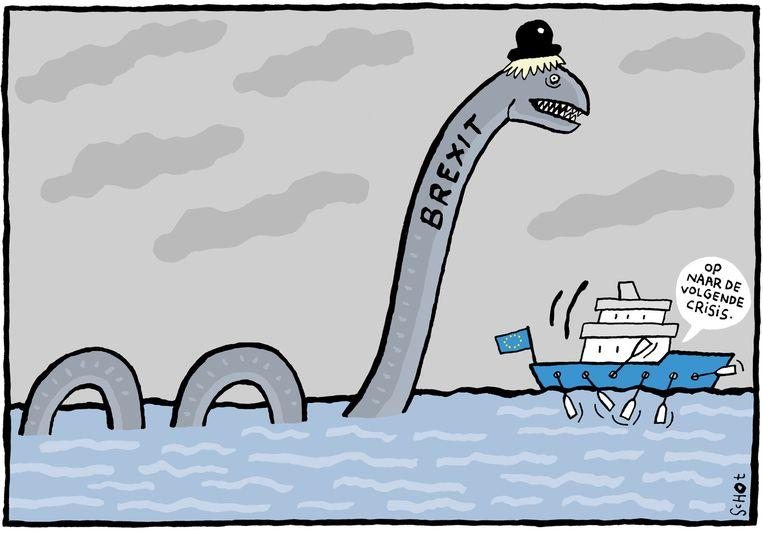 De blik van cartoonist Bas van der Schot op het Brexit-referendum uit de krant van morgen. Beeld Bas van der Schot