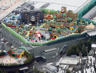 Eerste luchtbeeld van pretpark Super Mario World in Japan