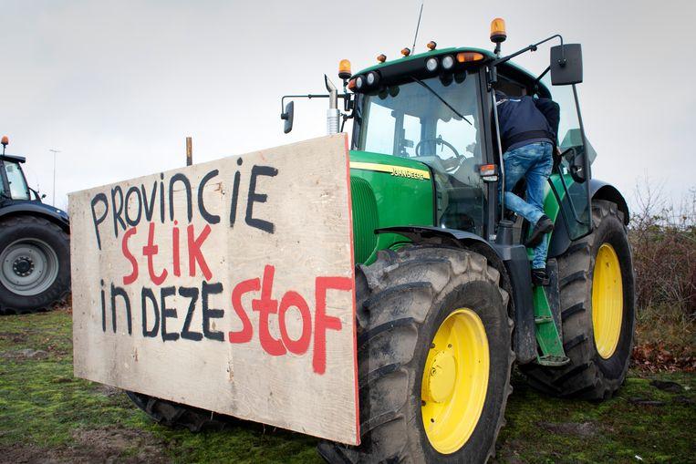 Brabantse boeren demonstreerden eind 2019 tegen het stikstofbeleid.  Beeld Ton Toemen