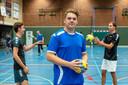 Twan Hofs is een van de drie talenten van HV Huissen. Teun Roelofs en Lars van Alst zijn de andere twee, op de achtergrond.