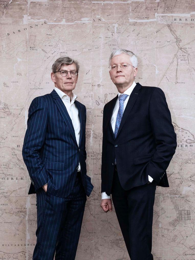 Bestuursvoorzitter Bart Berden van het Elisabeth-TweeSteden Ziekenhuis (links) en burgemeester Theo Weterings van Tilburg. Beeld Kiki Groot