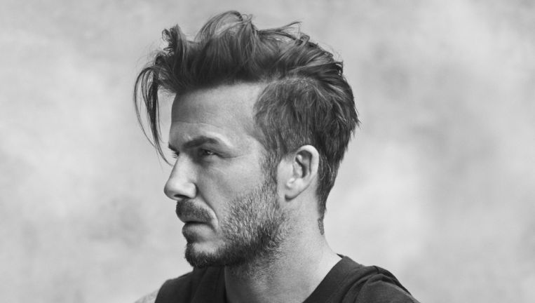 De tatoeage van David Beckham, te zien in een campagne van kledingconcern H&M. Beeld David Beckham Bodywear S/S 2015 campagne H&M