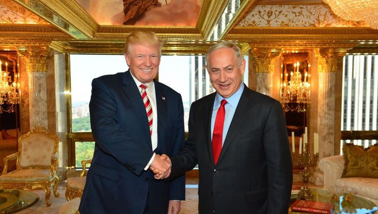Trump en Netanyahu in 2016 Beeld epa