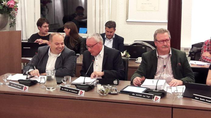VVD-raadsleden (vlnr) Patrick Simons, Con van Beckhoven en Anton van Tuyl (vorige raadsperiode).