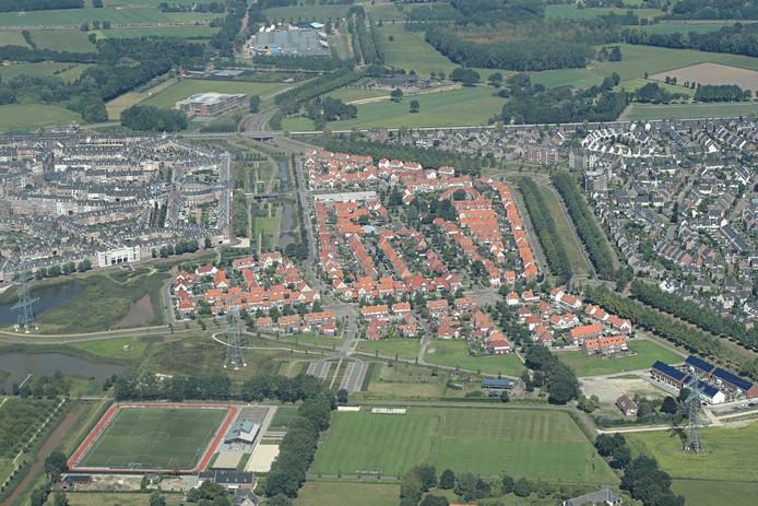 Brandevoort is uitdrukkelijk gepositioneerd als dorp apart tussen Eindhoven en Helmond in. foto Ronald Otter