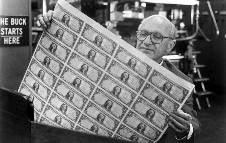 Econoom Milton Friedman  Beeld
