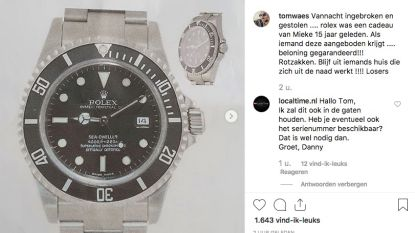 Inbrekers gaan aan de haal met Rolex van Tom Waes